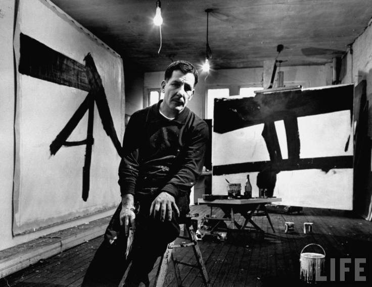 Photo credits. Franz Kline, New York, NY, 1954 Photo by Fritz Goro  © Time Inc.