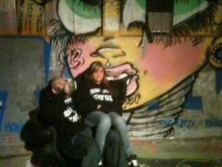 TRIGZ , HONEY IN FRONT OF SANDONE MURAL 2011