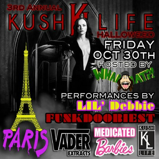 3rd. Annual Kush Life Halloween Party!