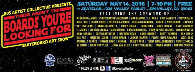 Coming Soon: 805 Artist Collective's Skateboard Art Show!