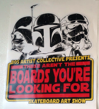 "Recap of ""These arent' the Boards you're looking for"" Art Show"